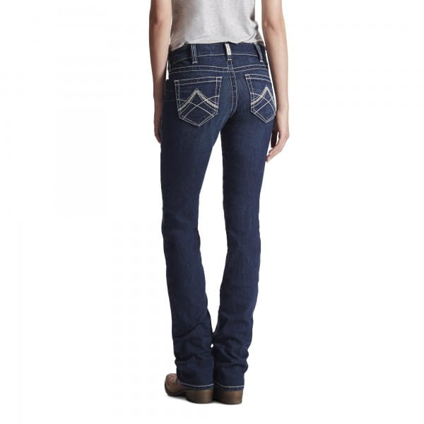 Ariat Womens REAL Mid Rise Icon Stackable Jeans