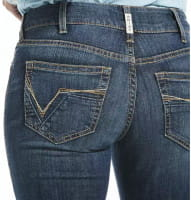 Ariat Womens Real Mid Rise Stretch Julia Straight Jeans