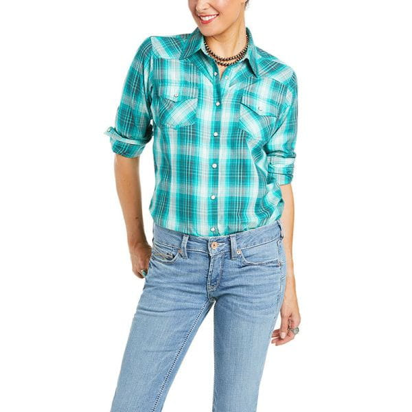 Ariat Womens Magnetic Shirt Tropical green